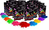 Holi Color Powder 40 count of 70g packets Each Red, Yellow, Navy Blue, Green, Orange, Purple, Pink, Magenta, True Blue, Aquamarine