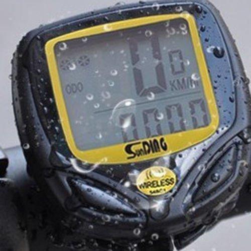 Gearmax® Wetterfeste drahtlose Fahrradcomputer Tacho Kilometerzähler Zyklus-Fahrrad (Durchschnittliche Geschwindigkeit / Höchstgeschwindigkeit) Wireless Bike Computer Speedo Odometer Speedometer Cycle Bicycle