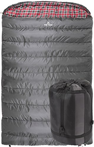 TETON Mammoth Queen Size Sleeping Bag for this list of winter rv camping tips