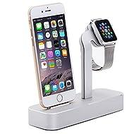 iPhone/apple watch stand, FOTOWELT [2en 1Station de recharge Chargeur], en aluminium, double iWatch iPhone Support de charge Dock Station pour Apple Watch et iPhone tous les modèles