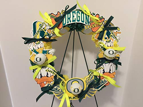 COLLEGE PRIDE - SPIRIT - OU - O - UNIVERSITY OF OREGON - DUCKS - THE OREGON DUCK - DORM DECOR - DORM ROOM - COLLECTOR WREATH - YELLOW AND GREEN CARNATIONS by Peters Partners Design (Image #9)