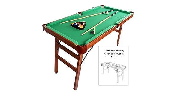Umi. Essentials Mesa de Billar Snooker Mesa Plegable 55