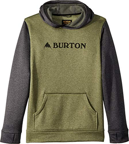 Burton Boys Oak Pullover Hoodie Clover Heather/True Black Heather, Medium