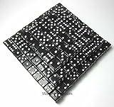 Black Standard Glitter Dice d6 16mm (5/8in) Pack of 200 Dice