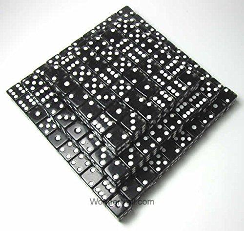 Black Standard Glitter Dice d6 16mm (5/8in) Pack of 200 Dice by Koplow Games