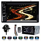"""Double 2 Din Car Stereo with Reverse Camera for Ford F250 Super Duty 2004-2016, with Mirrorlink Bluetooth Steering Wheel Control AM FM Radio Receiver DVD Player 6.2"""" Touchscreen Analog TV -  DICN Factory"""