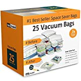 Home-Complete Vacuum Storage Bag Bundle - 25 Space Saver Bags and Free Travel