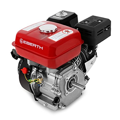 EBERTH 6.5 HP 4.8 kW Petrol Engine (20 mm Shaft, Low Oil Protection, Air-cooled Singel Cylinder 4-stroke Engine, Recoil Start) GG1-ER196-6.5-20