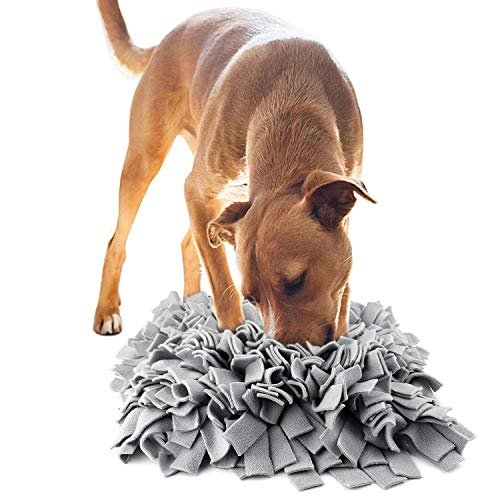 kissin Dog Snuffle Mat Thicken Polar Fleece Dog Food Mat Encourages Anxious Dogs Natural Foraging Skills Dog Puzzle ()