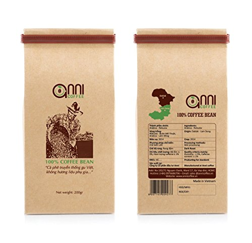 anni COFFEE DARK Roast Strong Vietnamese GROUND Coffee Premium Gourmet Blend ORIGAMI Packaging