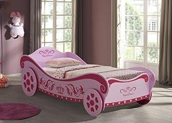 Letto Carrozza Disney : Letto per bambine a forma di carrozza rosa da principessa amazon