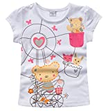 2-8T Kids Girls T-shirts Short Sleeve Pure Cotton Casual Tees