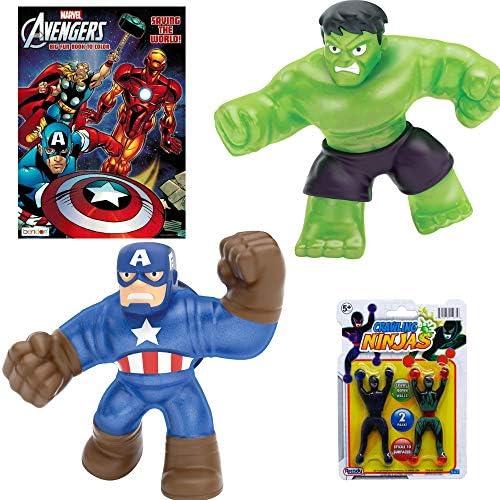 Heroes of Goo Jit Zu Marvel Hero Action Figures - Captain America and Hulk (2-Pack Gift Set)