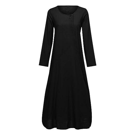 ZODOF vestidos mujer vestido bohemio mujer Algodón Y Lino ...
