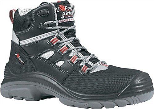 Stivali di sicurezza S3SRC Cross Metalli GR. 44colore: nero/rosso di U Power Pelle liscia