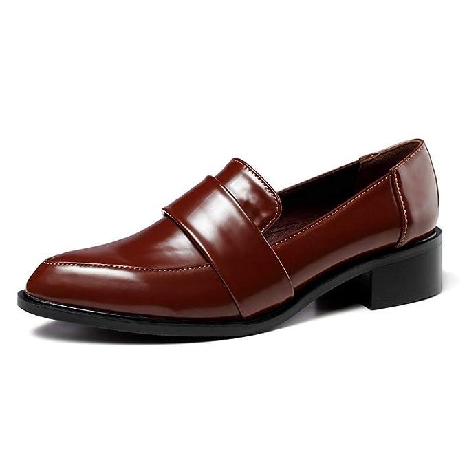 Mocasines Zapatos Planos Bombas Zapatos Mocasines De Oficina Zapatos De Trabajo Zapatos De Vestir De Dama De Honor Zapatos Casuales De Charol: Amazon.es: ...
