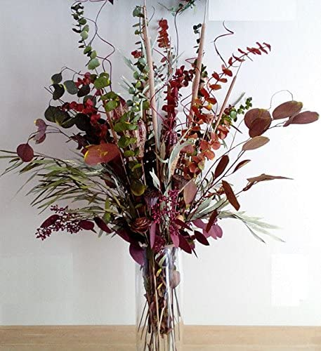 Amazon Com Wreaths For Door Fall Dried Flower Pod Arrangement Autumn Assortment Of Eucalyptus Branches With Pods Cattails Lotus Pods Ting Ting Fall Decor 28 Inches Tall Prearranged Home Kitchen