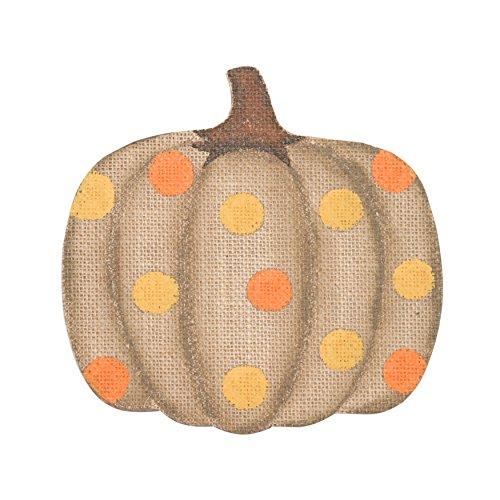 [Pumpkin Orange Yellow 8 x 8 Wood Plaque] (Undertaker Childrens Costume)