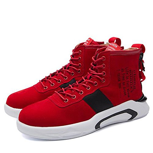 Leisure Help Autumn EU40 and UK7 Shoes 3 Colors CN41 Tide Men's High Red Shoes Size Spring Feifei Color CIqXBnw0