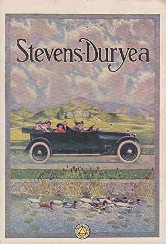 Steven-Duryea Seven-Passenger Touring car ad 1914 duck pond ()