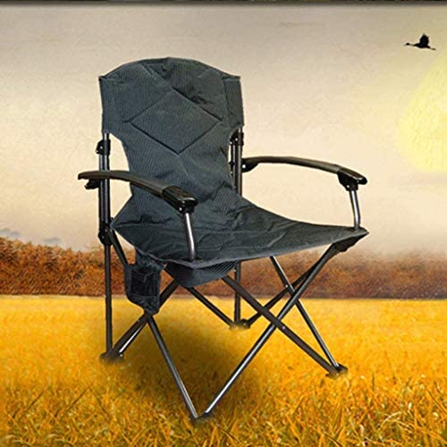 SCDXJ Camping Chairs, Outdoor Portable Backpacking Folding Chairs, Recliner Padded Patio Lounger Chair