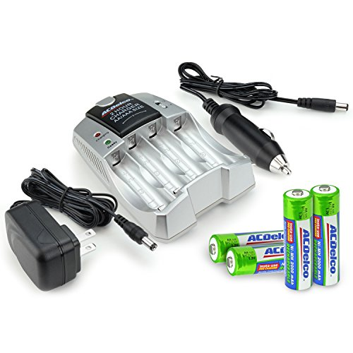 ACDelco Fast Charger, Includes 4 AA Batteries