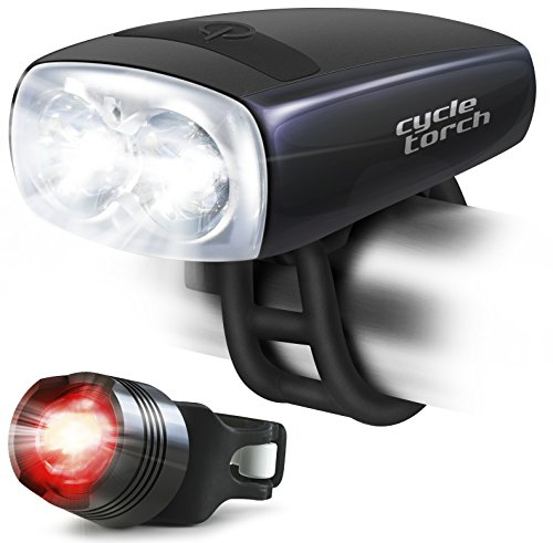 Bike-Light-USB-Rechargeable-Cycle-Torch-Night-Owl-Perfect-Urban-Commuter-Bicycle-Light-Set-Bright-TAIL-LIGHT-Included-Compatible-with-Mountain-Road-Kids-City-Bicycles-Increase-Safety-Visibility