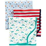 Simple Joys by Carter's Baby Boy's 3-Pack Cotton Swaddle Blanket