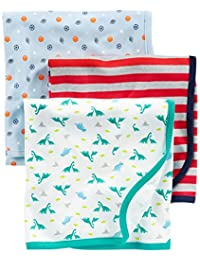 Simple Joys by Carter's Baby Boys' 3-Pack Cotton Swaddle Blankets