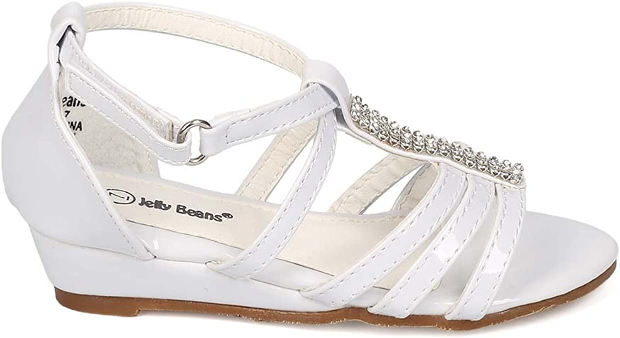 New Girl Jelly Beans Safe Patent Open Toe Two Tone T-Strap hook and loop Sandal