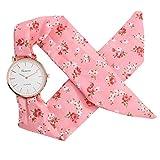 Women's Weekender 31mm Watch,Londony ✡ Sweet Girl Bracelet Watch Ladies Dress Watch Fashion Flower Cloth Design Watch