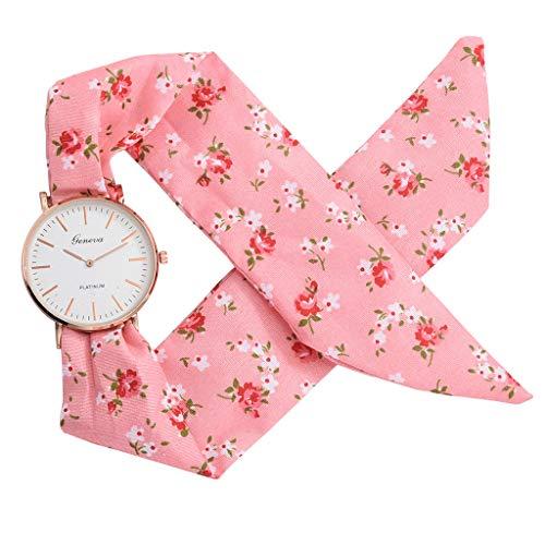 (Women's Weekender 31mm Watch,Londony ✡ Sweet Girl Bracelet Watch Ladies Dress Watch Fashion Flower Cloth Design Watch )