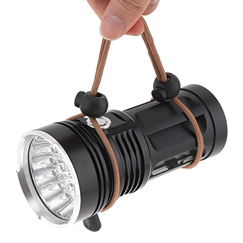 WindFire New Ultra Bright 16 LED Handheld Searchlight, T6 LED Water Resistant Best High Lumen Tactical Flashlight with 3 Modes, Portable Self-Defense Spotlight Torch for Home Outdoor Camping, Hunting by WindFire (Image #7)