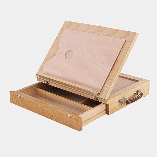Zfggd Caballete de Mesa multifunción portátil Plegable, Caja de ...