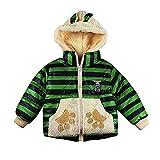 Little Kids Winter Warm Coat,Jchen(TM) Clearance! Baby Kids Little Girl Boy Autumn Winter Warm Cute Cartoon Bear Paw Outerwear Kids Jacket Coat for 1-4 Y (Age: 3-4 Years Old, Green)