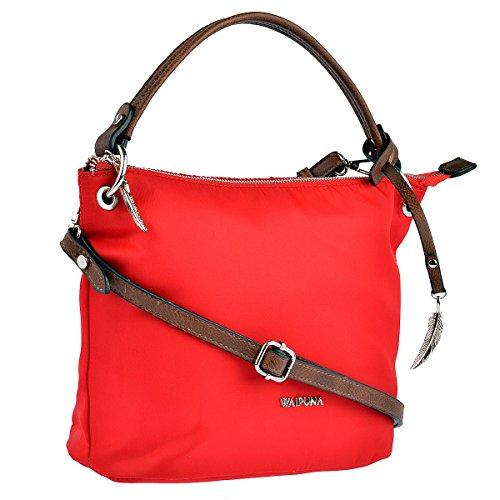 WAIPUNA Handtasche Kanalana Nylontasche Damen Rot