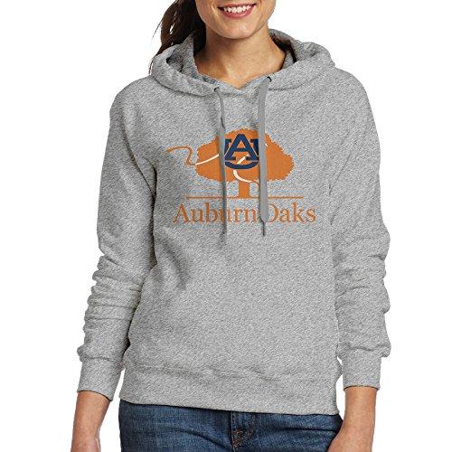 AUSIN Women's Auburn University Hoodies Ash Size L