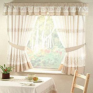 Deco beige kitchen curtains 46 x 48 kitchen home - Deco romantische kamer beige ...
