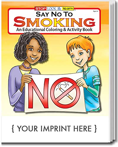 ZOCO Say No to Smoking Kid's Coloring & Activity Books in Bulk (Qty of 250) - Customized with Your Logo or Imprint