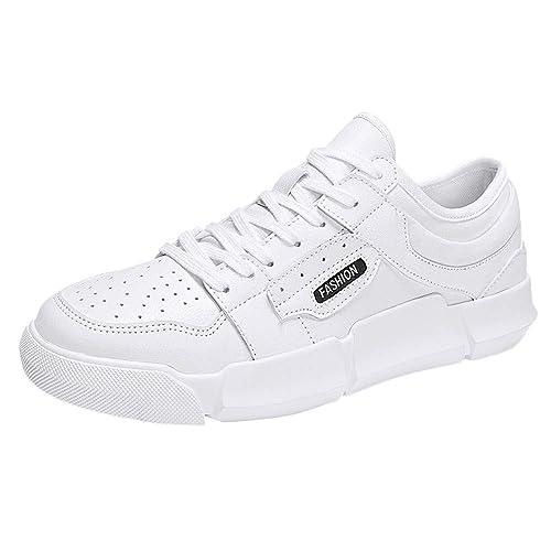 Zapatos Hombre Black Friday Casuales Invierno Zapatos Casuales de Hombre Transpirable con Cordones Antideslizantes Punta Redonda Zapatillas de Deporte de ...