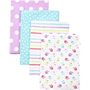 Gerber Baby 4 Pack Flannel Burp Cloth, Birdie, One Size
