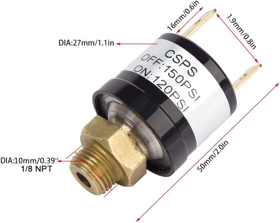 Mintice 12V Schwerlast 90-120 PSI Luftkompressor Steuerschalter Automatisches Luftdruck Druckschalter ventil Kompressor Horn pumpe Auto Zug Regler 1//8 NPT