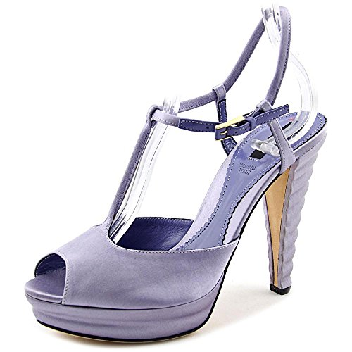 Bally Elfrida Women US 7.5 Purple Peep Toe Platform Heel