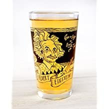 Cognitive Surplus Heroes of Science: Albert Einstein Pint Glass