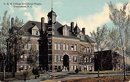 Greensboro North Carolina College For Colored People Antique Postcard K103799