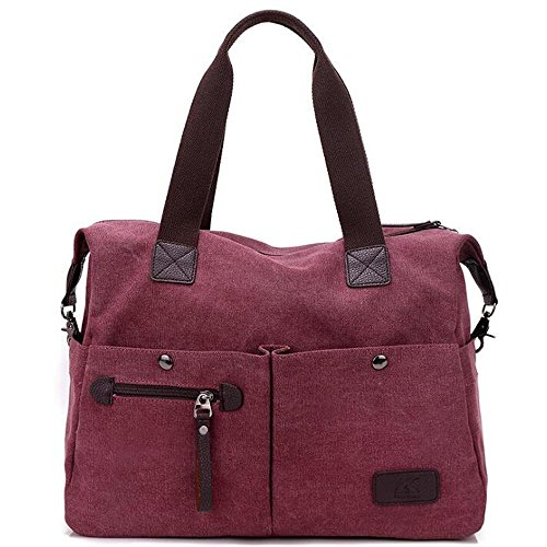 Bag Brown Red Bag Hobo Top Women's Work Shoulder Casual Large Tote Casual Crossbody Purse Handbags Handle wFxCpOq