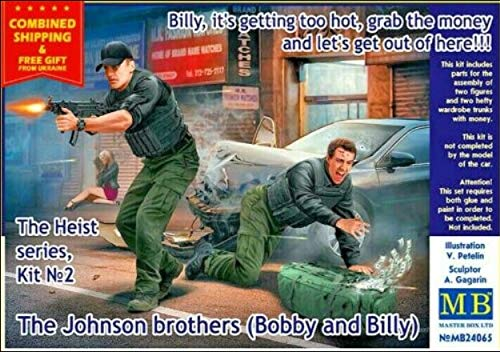 Its Getting Too hot Bobby Billy Masterbox Master Box 24065 1//24 Heist 2 Billy