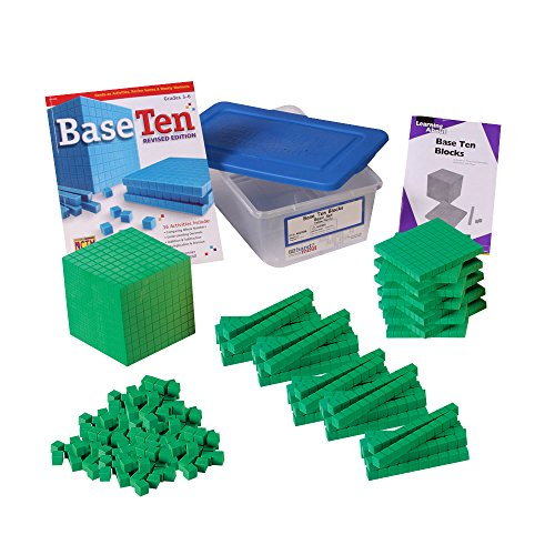 ETA hand2mind Green ManipuLite Foam Base Ten Blocks Starter Set