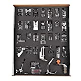Professional Domestic 32Pcs Sewing Machine Presser Foot Feet Kit Set for Brother,Babylock,Janome,Elna,Toyata,Singer and NewHome Sewing Machines