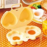 OrliverHL Yellow Microwave Egg Poacher Home Kitchen Gadget Cooking Cooker Portable Tools